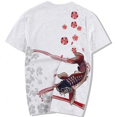 *Pre Order*Jinzhong embroidery เสื้อยืดแขนสั้นผ้าฝ้ายญี่ปุ่น size M-3XL