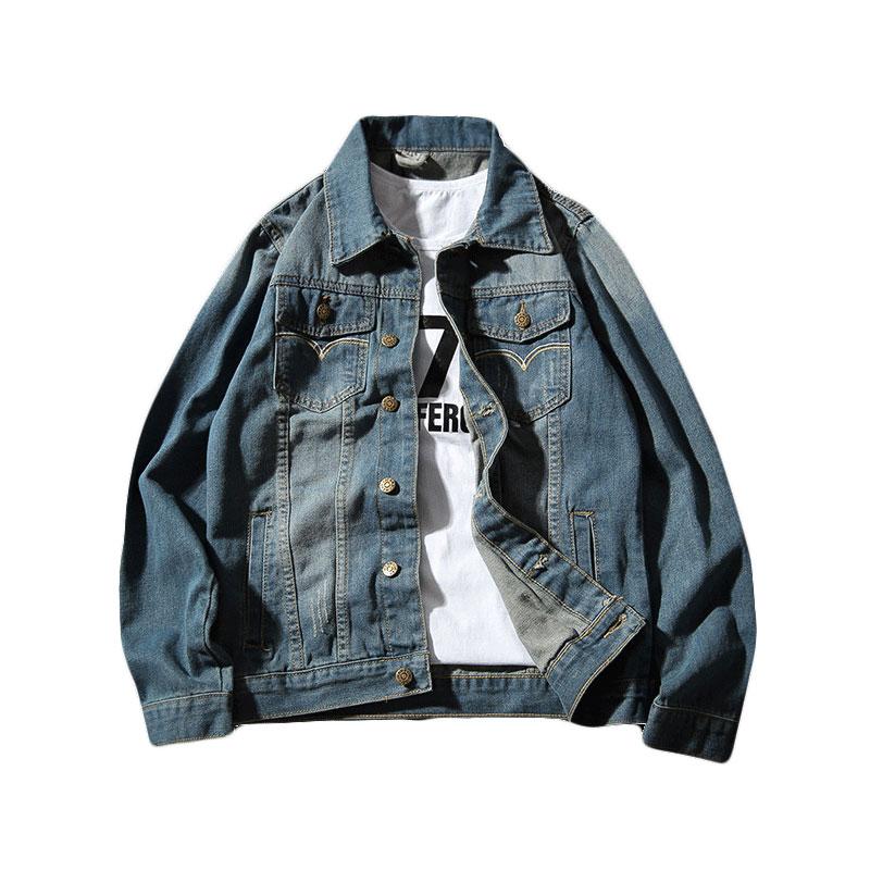 *Pre Order*Denim Jacket แฟชั่นญี่ปุ่น size M-5XL