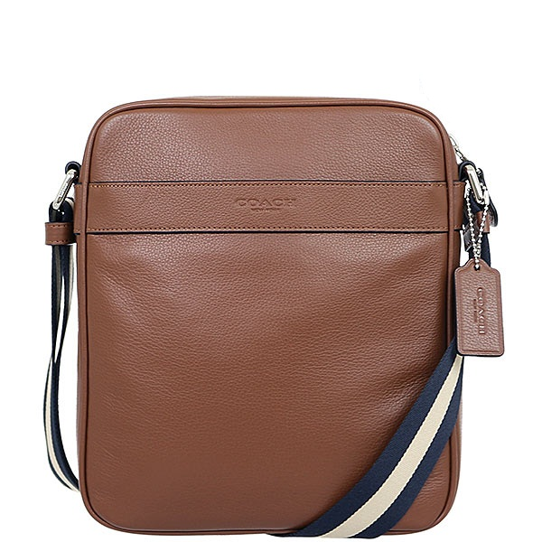 5a98f65e99eb0 COACH F54782 HARLES FLIGHT BAG IN SMOOTH LEATHER. COLOR   DARK SADDLE.  Details   - Leather - Inside multifunction pocket - Zip-top closure