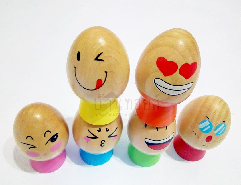 ของเล่นไม้ ไข่บอกอารมณ์เสริมพัฒนาการ