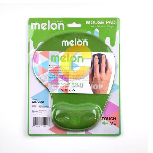 Mouse PAD (แบบผ้า) Melon ML-200 รองข้อมือ คละสี