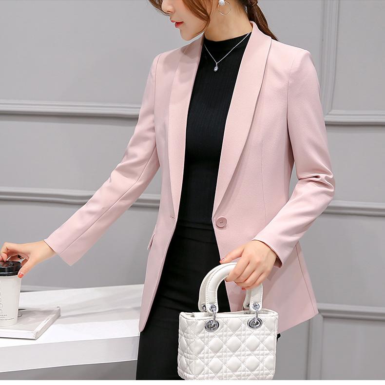 เสื้อสูทมาใหม่ตัวยาวมีซับใน กระเป๋าจริง 303RX สีชมพูนวล