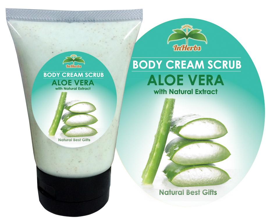 """AlOE VELA"" Body Cream Scrub / ครีมสครับขัดผิว สูตรว่านหางจระเข้"