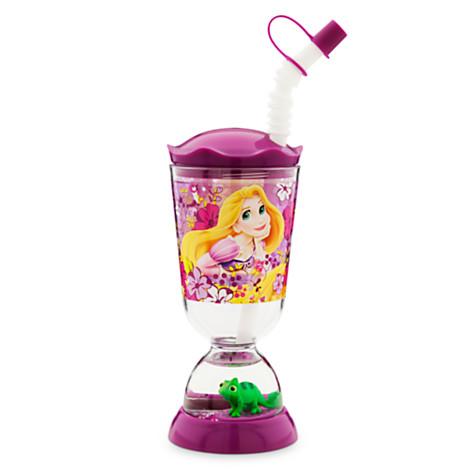 z Rapunzel Snowglobe Disney Tumbler with Straw ของแท้ นำเข้าจากอเมริกา