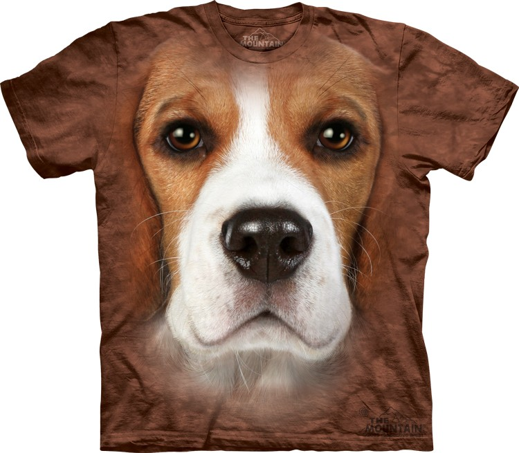 Pre.เสื้อยืดพิมพ์ลาย3D The Mountain T-shirt : Beagle Face