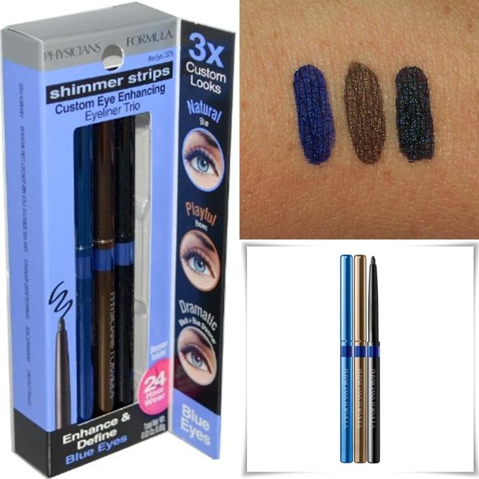 **พร้อมส่ง+ลด 50% **physicians formula shimmer strips custom eye enhancing eyeliner trio สี Blue Eyes