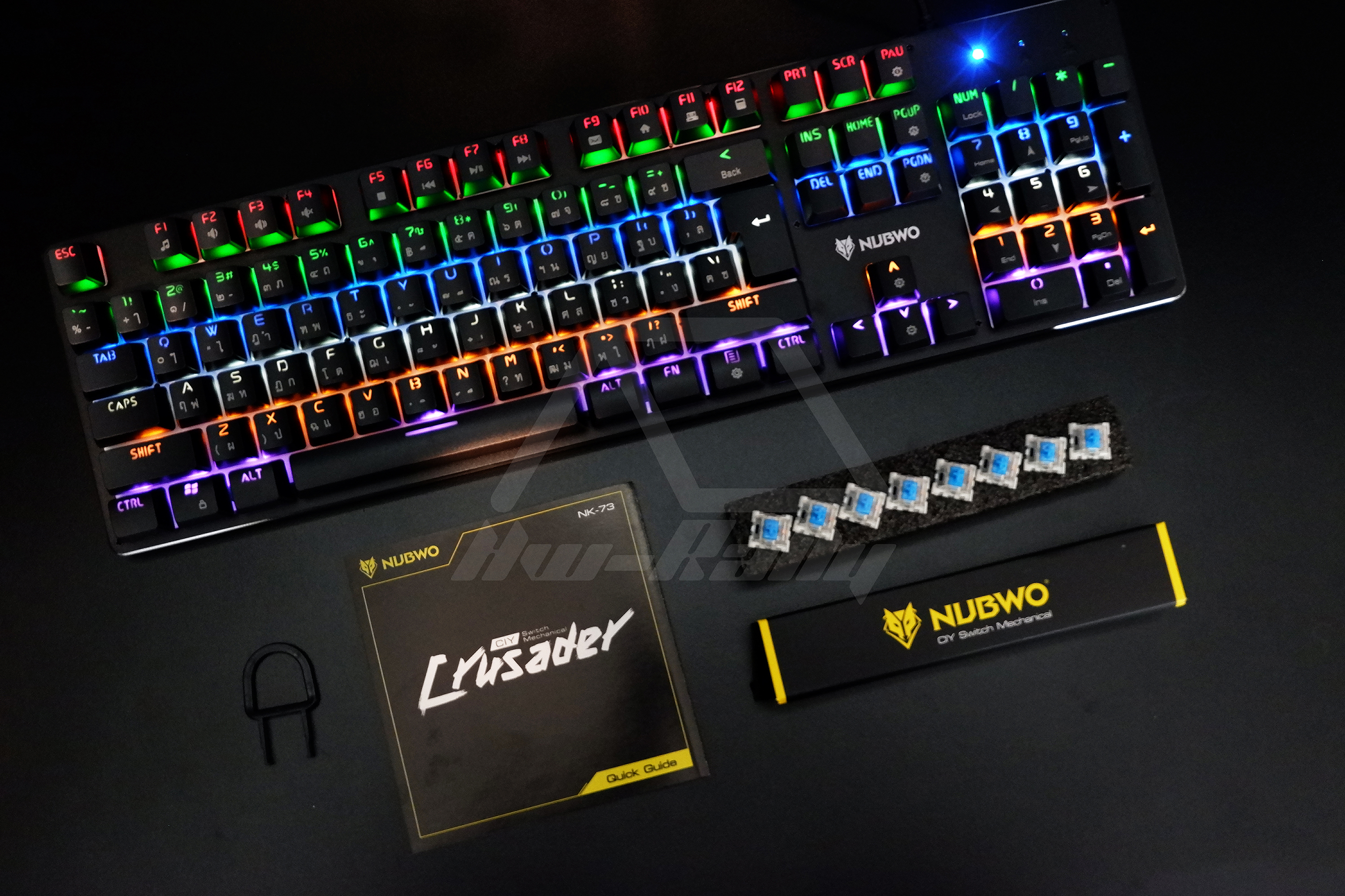 Nubwo Crusader Nk-73 Mechanical Outemu Blue Switch แท้