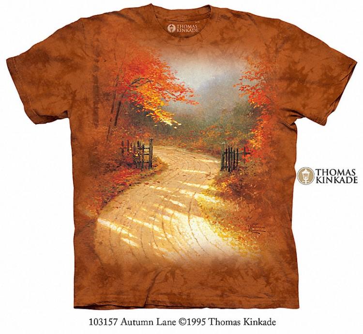 Pre.เสื้อยืดพิมพ์ลาย3D The Mountain T-shirt : Autumn Lane MD