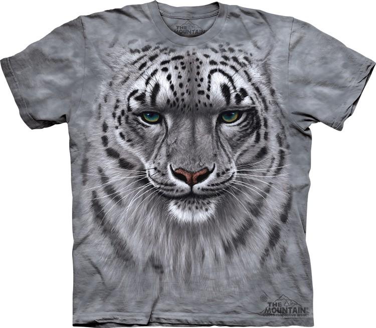 Pre.เสื้อยืดพิมพ์ลาย3D The Mountain T-shirt : Snow Leopard Portrait