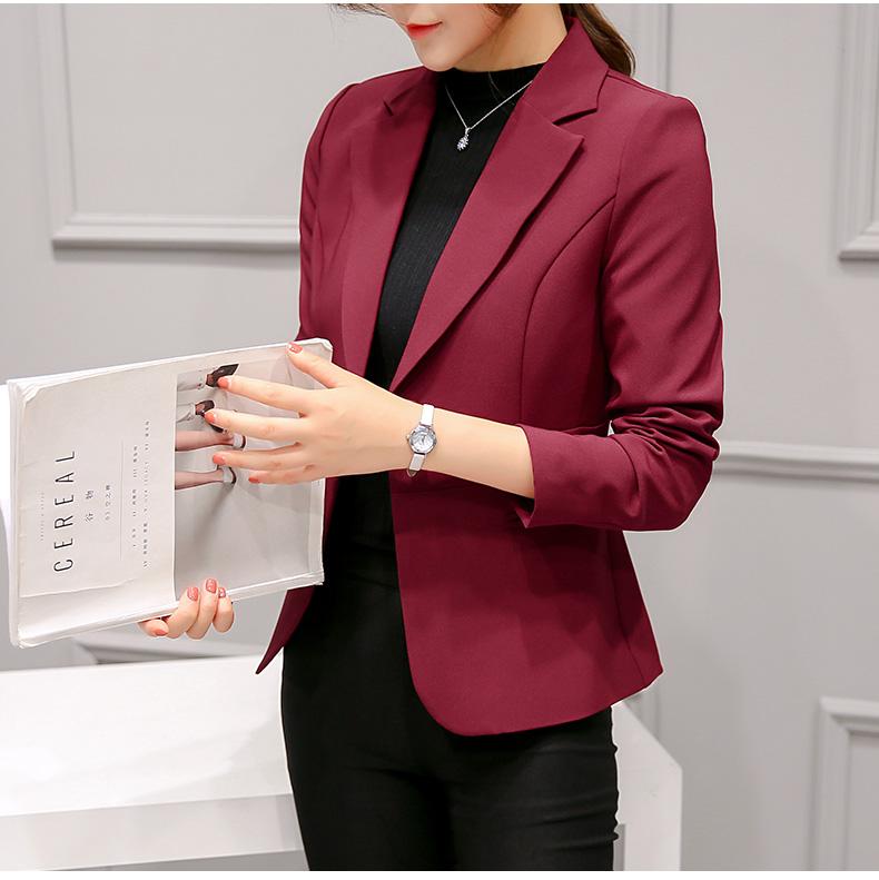 เสื้อสูท เบลเซอร์ สไตล์เก๋ไก๋ มาใหม่ มีซับในซ่อนตะเข็บ รุ่น 297RX สีไวน์แดง