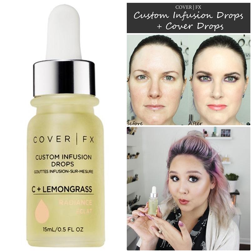 ** พร้อมส่ง+ ลด 50% **Cover FX Custom Infusion Drops in C+ Lemongrass - Radiance ขนาดทดลอง 3 มิล ไม่มีกล่อง