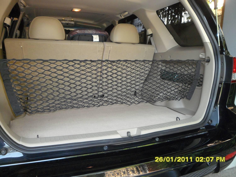 ตาข่ายรถเก๋ง กระบะ SUV กั้นของเลื่อน ไหล ของตกได้ดีเยี่ยม จัดระเบียบได้เรียบร้อยสวยงาม