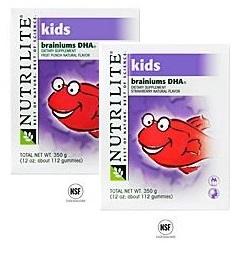 Nutrilite Kids Brainiums DHA Dietary Supplement อาหารบำรุงและพัฒนาสมองเด็ก ให้ความจำดีขึ้น ฉลาดเก่งสมวัย Amway USA