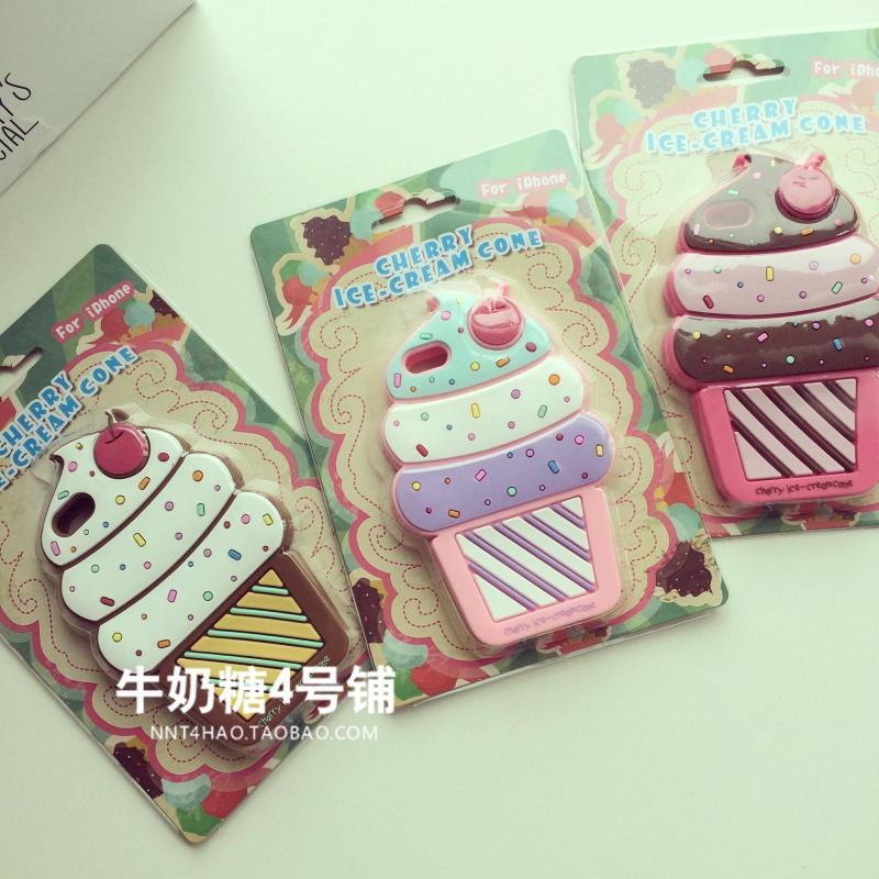 เคสไอโฟน 5/5S เคสพลาสติคนุ่มดีไซน์ไอศครีมโคนนำเข้าจากญี่ปุ่น iPhone5/5S Case
