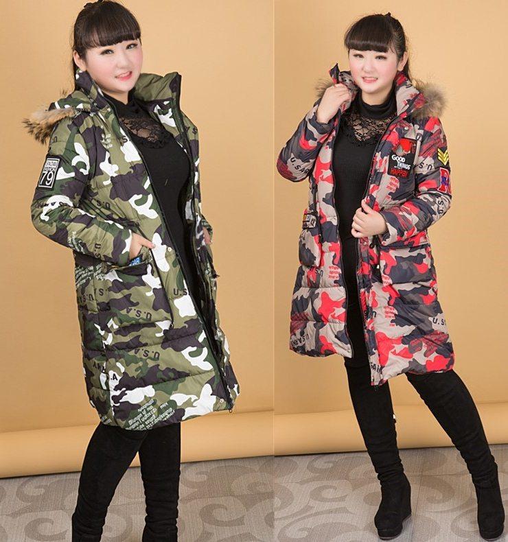 PreOrderคนอ้วน - เสื้อโค้ทกันหนาว แบบสวย บุนวม+นุ่น แต่งแบบเท่ ๆ สี : ลายพรางเขียว / ลายพรางแดง / ดำ / น้ำตาลเข้ม