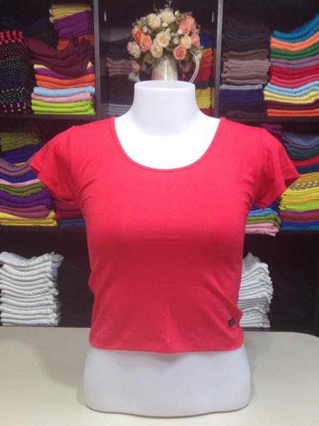 เสื้อยืดครึ่งตัว สีแดง