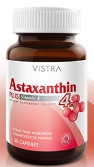 Vistra Astaxanthin Plus Vitamin E (30 แคปซูล)