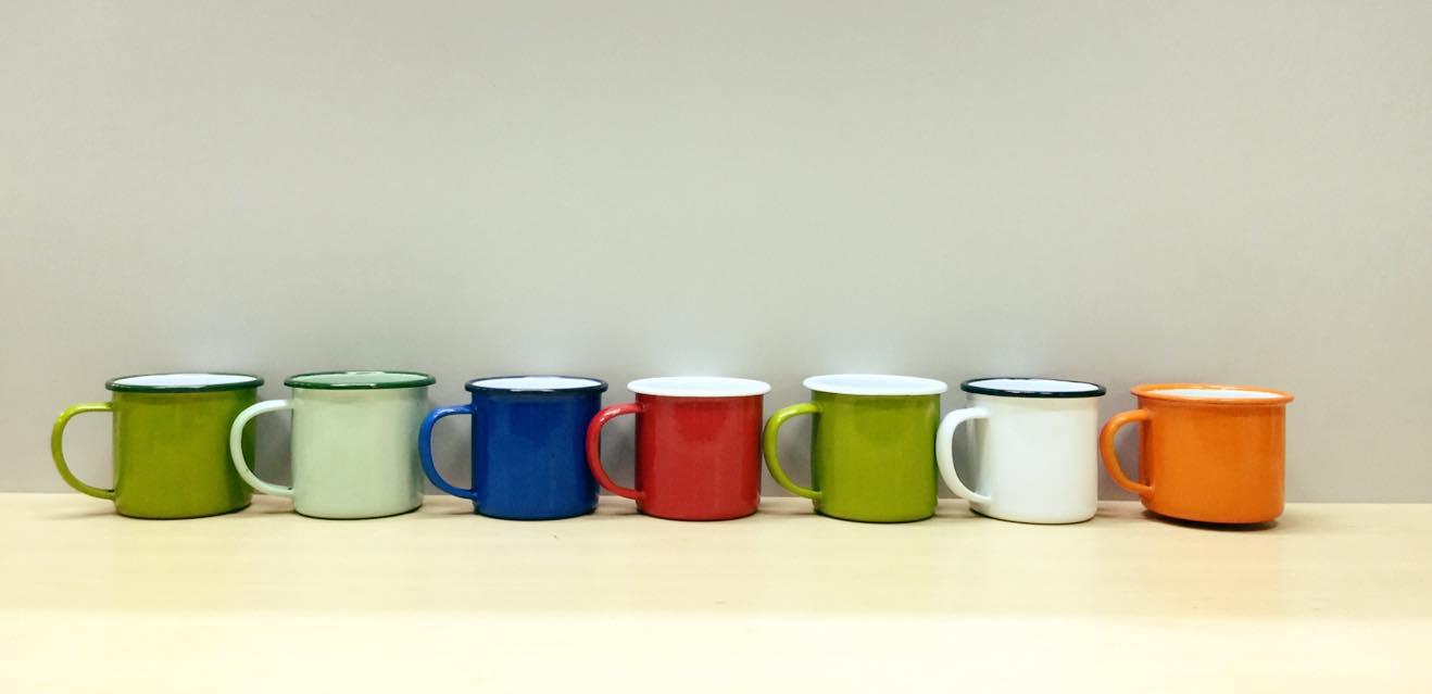 Enamel Mug 9cm (Variety Colors)