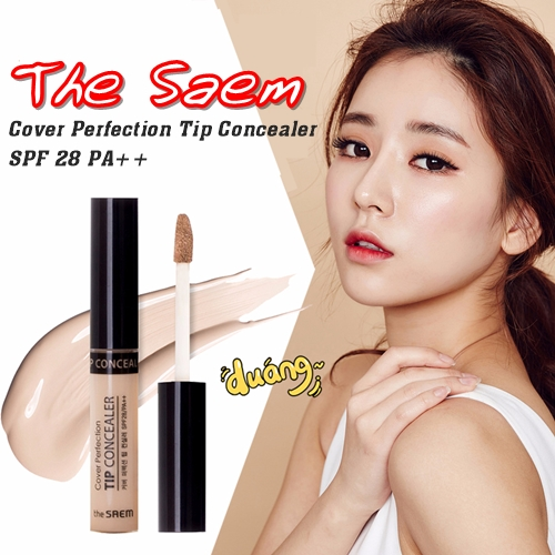 คอนซีลเลอร์ The Saem Cover Perfection Tip Concealer SPF 28 PA++