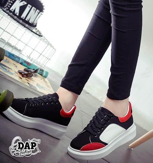 รองเท้าผ้าใบแฟชั่น ทรง Sport เสริมส้น สไตล์เกาหลี