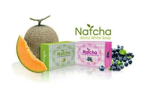 สบู่นัทชาเมลอน Natcha soap เพื่อผิวขาว กระจ่างใส ภายในก้อนเเรก