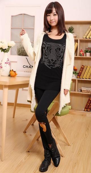 เลคกิ้งแฟร์ชั่นเกาหลี เนื้อผ้าฝ้ายสวมใส่สบายขนาด Free Size