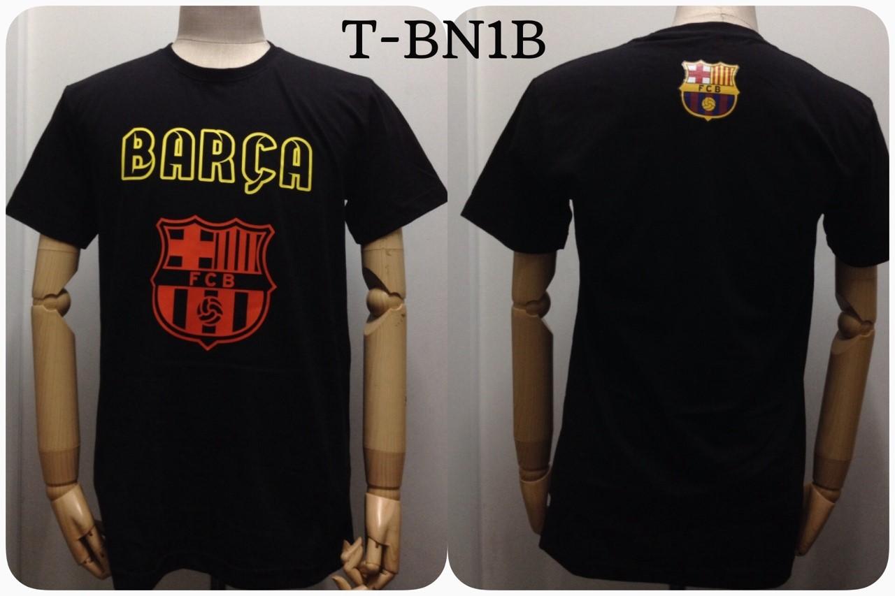 เสื้อยืด บาร์เซโลน่า สีดำ T-BN1B