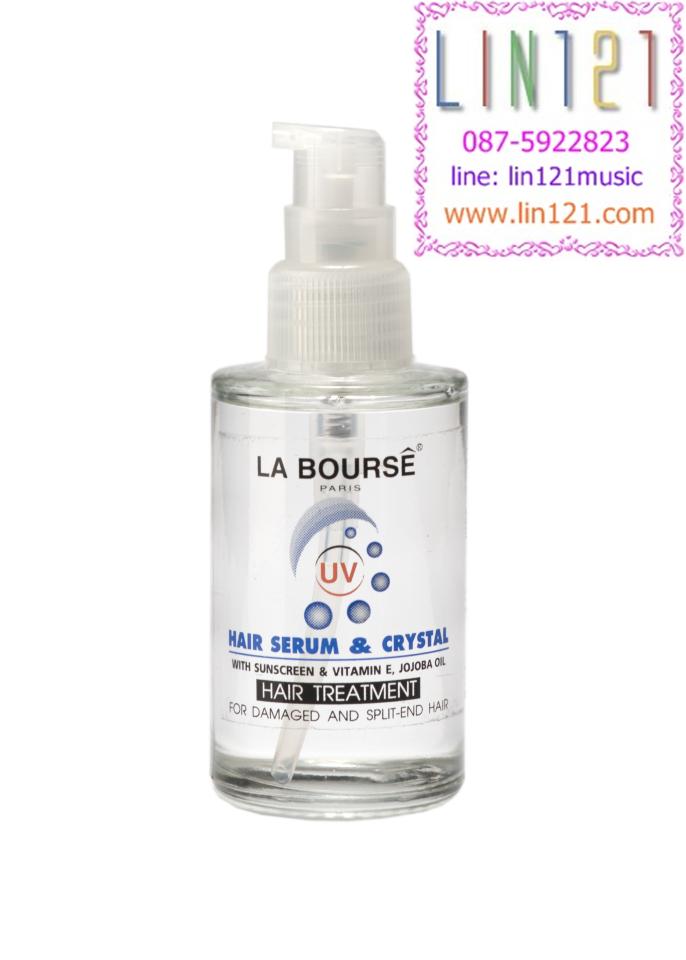 HAIR SERUM & CRYSTAL with Sunsceen & Vitamin E, Jojobar Oil เซรั่มสูตรป้องกันแสงแดด วิตามิน อี + โจโจ้บาร์ ออยล์ 30 ml