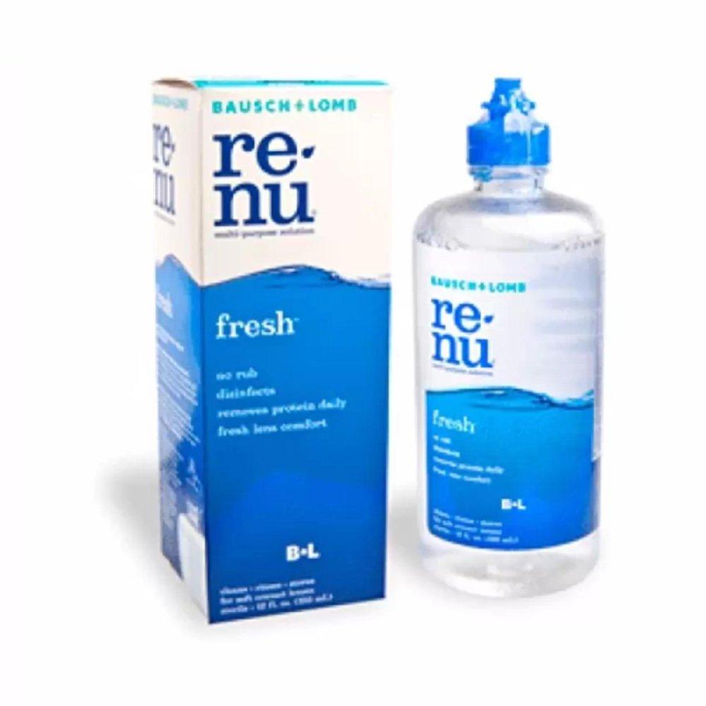 ReNu Fresh Multi-Purpose Solution 60 ml รีนิว เฟรช น้ำยาล้าง แช่ คอนแทคเลนส์ ทำความสะอาดและขจัดคราบสะสมของฟิลม์โปรตีน