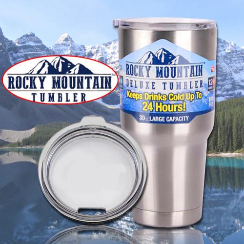 แก้วเก็บร้อนเย็น rocky mountain คุณภาพเหมือน yeti สีเงิน