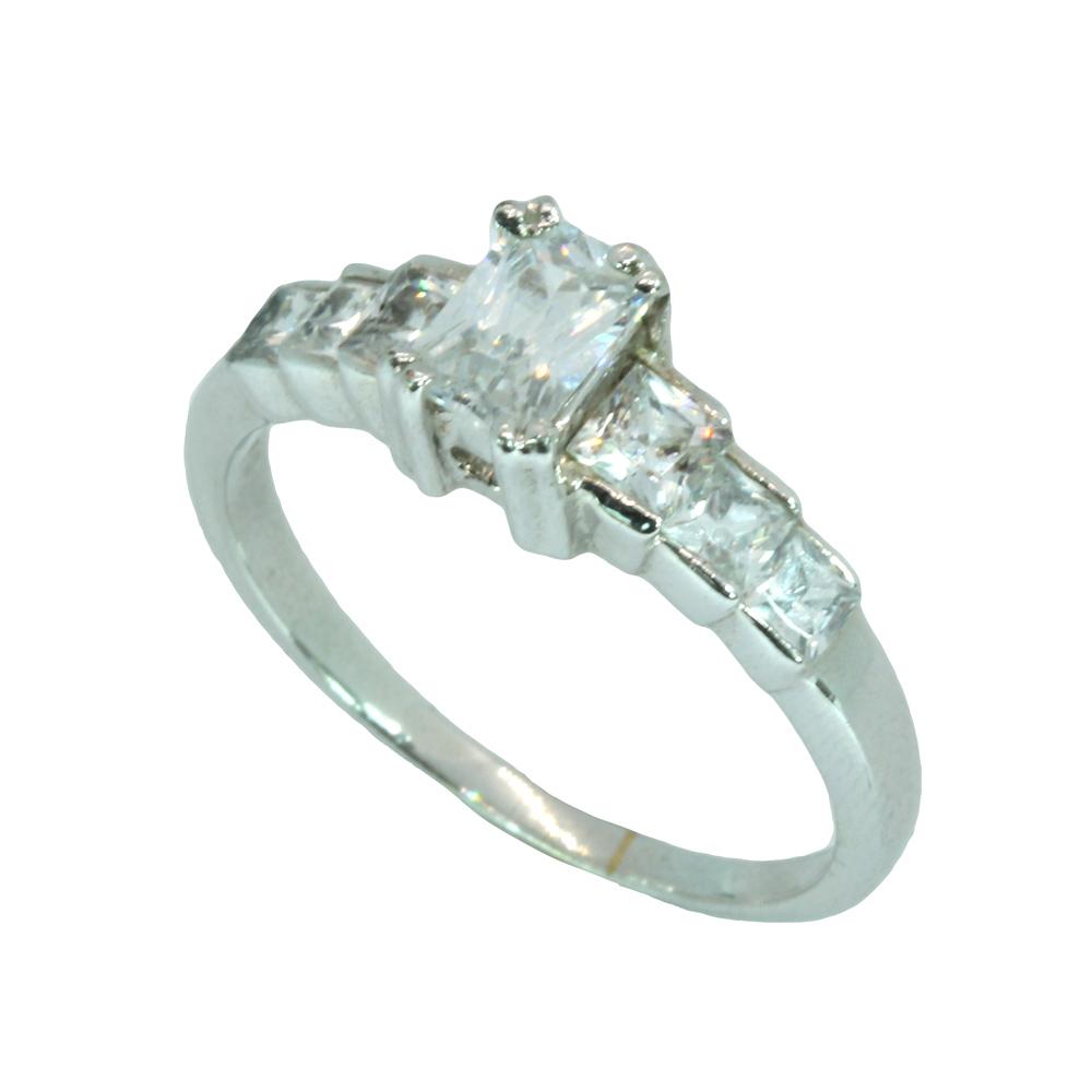 แหวนเพชรCZ หุ้มทองคำขาวแท้ ไซส์ 57