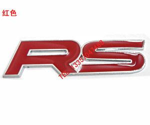 สติ๊กเกอร์ติดรถ logo RS 10x3 cm งานโลหะ
