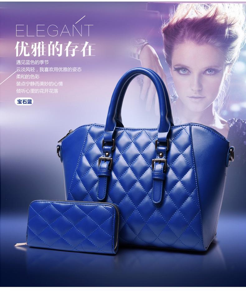 กระเป๋าเซต 2 ใบ สีน้ำเงิน ดูดี มีสไตล์