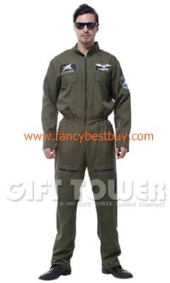 ชุดแฟนซีผู้ชาย ชุดนักบิน Airforce Pilot ขนาดฟรีไซด์