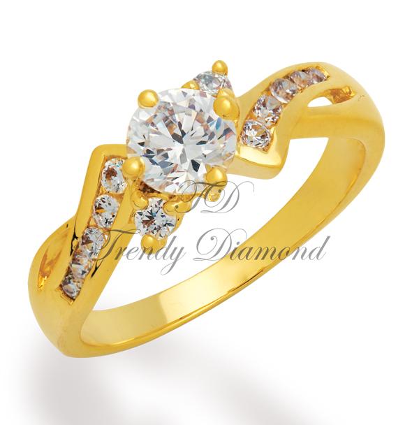 แหวนเพชร Thunder สีทอง