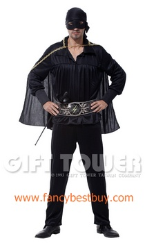 ชุดแฟนซีผู้ชาย ชุดอัศวินหน้ากากดำ Masked Knight ขนาดฟรีไซด์