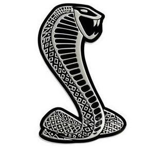 สติ๊กเกอร์แต่งรถยนต์ 3D snake cobra สีเงิน งานโลหะ 9x6cm