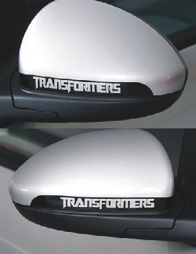 สติ๊กเกอร์ติดรถTransformers พื้นขาวตัวอักษรโปร่ง (ภาพแทน) ขนาด 3x23CM (1Pack/2ชิ้น)