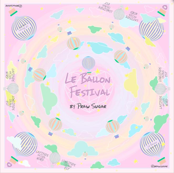Le Ballon Festival Scarf - Pink