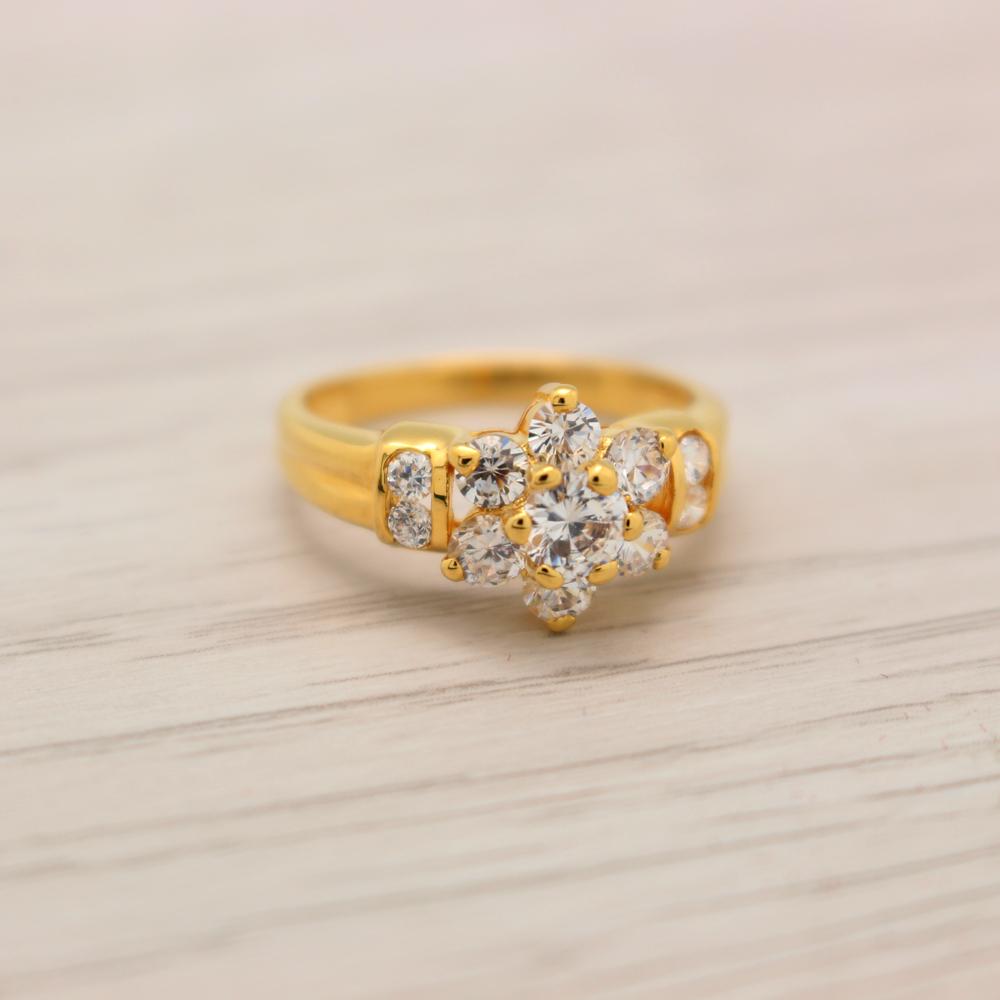 แหวนเพชรCZ หุ้มทองคำแท้ ไซส์ 51