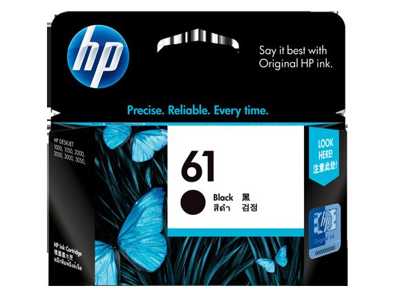 HP 61 ตลับหมึกอิงค์เจ็ท สีดำ Black Original Ink Cartridge (CH561WA)