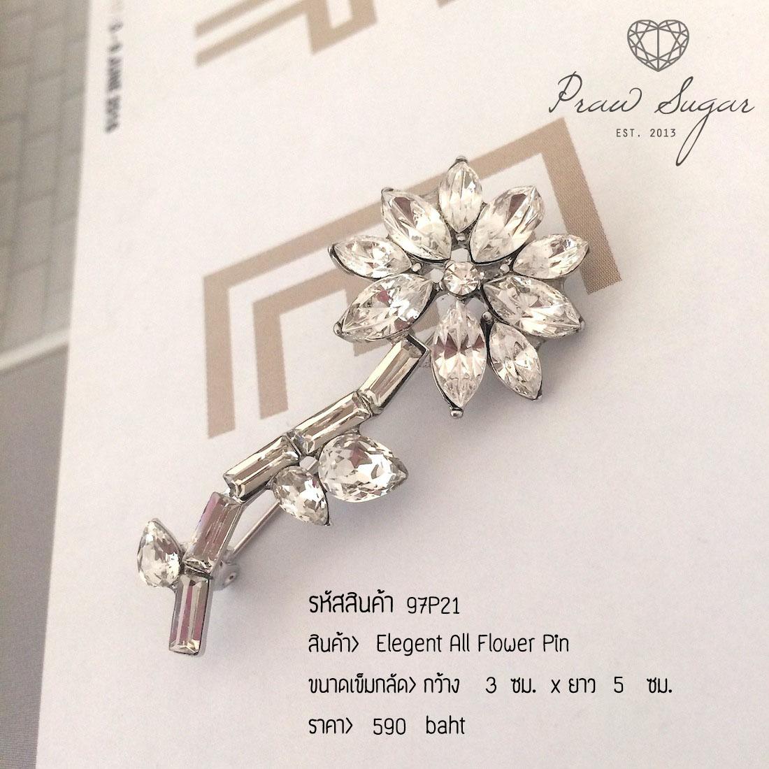 Elegant All Flower Pin