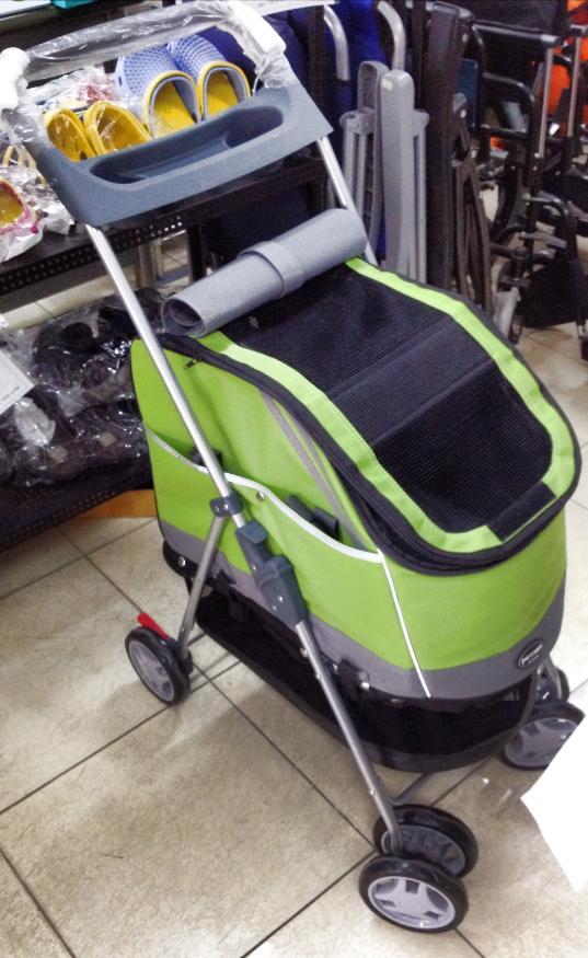 รถเข็นสุนัข ยี่ห้อ PetComer แบบ 2in1 รุ่น A สีเขียว