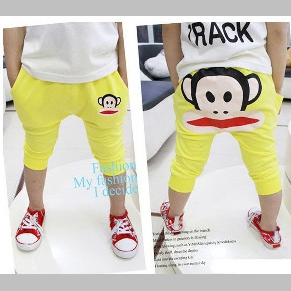 กางเกงสี่ส่วน-สีเหลือง