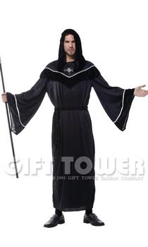 ชุดฮาโลวีนผู้ชาย ชุดผู้ส่งสารความตาย Midnight Messenger ขนาดฟรีไซด์