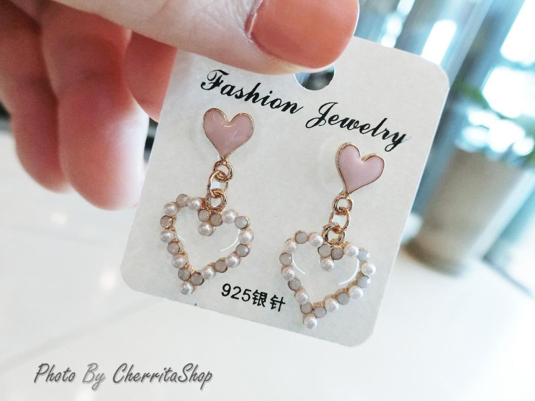 ต่างหู Sweet Pastel Heart Korea ER6631