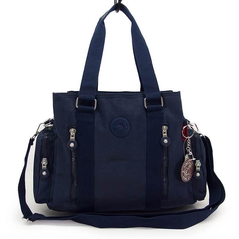 กระเป๋าถือ + สะพายไหล่ สีกรม