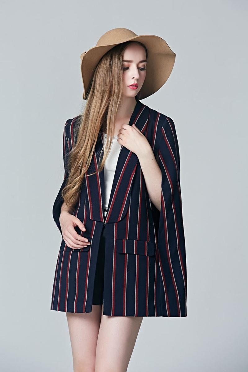 เสื้อเบลเซอร์ Suit Collar Striped