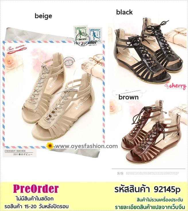 Preorder 92145p รองเท้าส้นเตี้ย 35-39