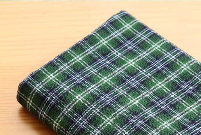 ผ้าคอตต้อนเกาหลี ลายตาราง Robin ผ้าฝ้าย 100% 20s ตัดขายขนาด 110x90 cm